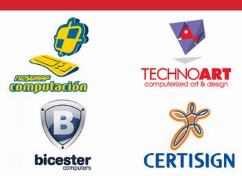 Векторные логотипы компьютерных фирм